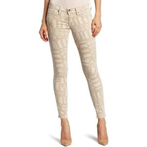 Lucky Brand Lace Print Legend Skinny Jeans